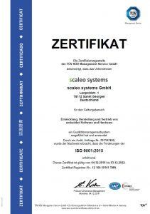 ISO 9001 2015 Zertifizierung